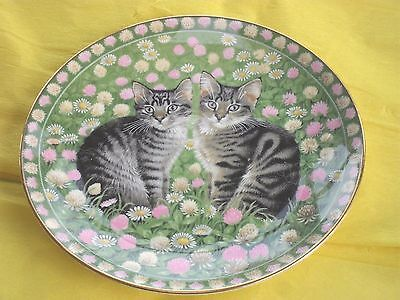 Lesley Anne Ivory 'Meet my Kittens' plate Aynsley bone china, May, Muppet. Cats