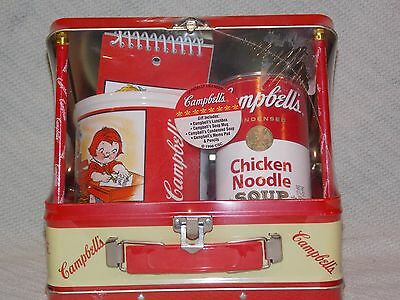 1998 Campbell's Condensed Soup Tin Lunch Box Gift Set **NIP**