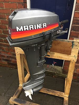 Mariner 15hp Long Shaft Outboard Boat Engine Electric Start