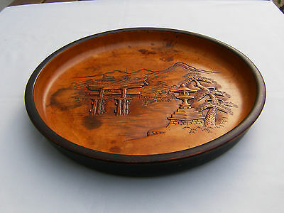 Old Oriental Wood Tray