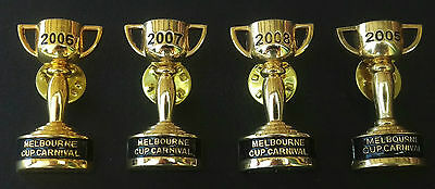 2005 2006 2007 & 2008 Melbourne Cup Carnival Horse Racing Pins Badges Brooches