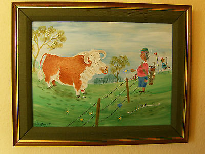 Humerous Golf Painting (Country Golf By John E Grant)