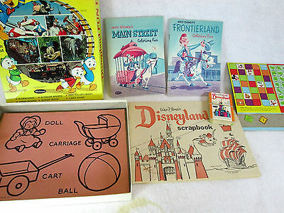 Vintage 1965 Disneyland Fun Box activity set by Whitman no 4753 (not complete)