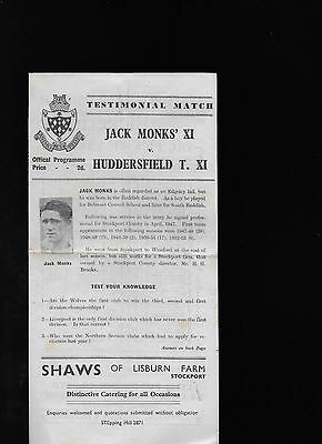 At Stockport County-Jack Monks X1 V Huddersfield Town X1