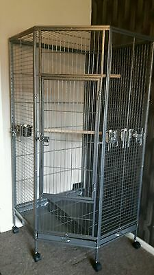 Signature Super Large African Grey Macaw Parrot Corner Cage- SALE PRICE