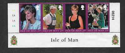 Isle Of Man Postal Issue Mint Se-Tenant 4 Princess Diana  1998 Stamps