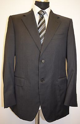 Ms116 Canali  Men'S Indigo 100% Pure New Wool Suit Chest 40R  W34  L32.5