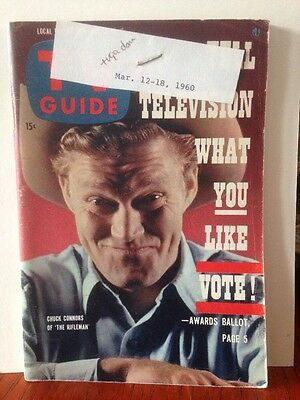 "TV Guide Chuck Connors of ""The Rifleman"" 1960"