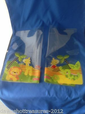 2 Fisher Price Car Window Cling-on Sun Shades for baby/kids--Jungle Animals