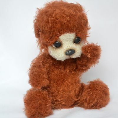 Artist crochet brown teddy bear, 11in.