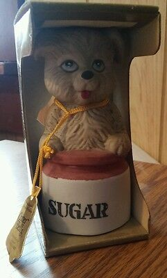 1980s Critter Bells by Jasco  Dog on sugar canister  new in box