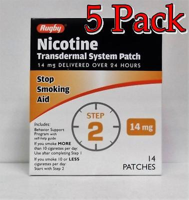 Rugby Nicotine Transdermal System Patch, Step 2, 14ct, 5 Pack 305361107888A1631