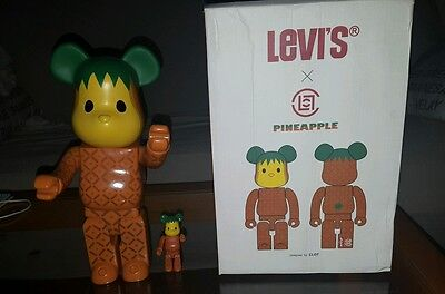 Figura bearbrick 400% medicon replic pineapple levis