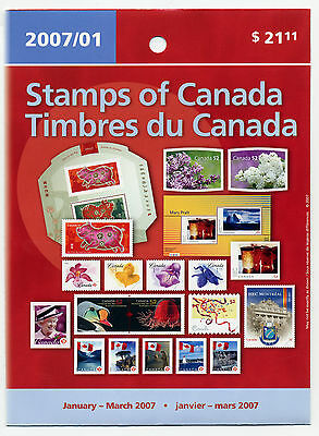 Weeda Canada 2007 January-March Quarterly Pack, sealed! Face value $24.23