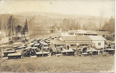Marshfield,vermont,real Photo, Large Group,decorated Parade Vehicles,dancehall?
