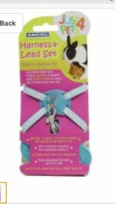 Ancol Rabbit & Guinea Pig Harness & Lead Set Blue