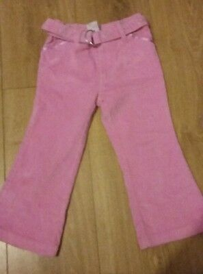 girls pink cord trousers size 2-3 years