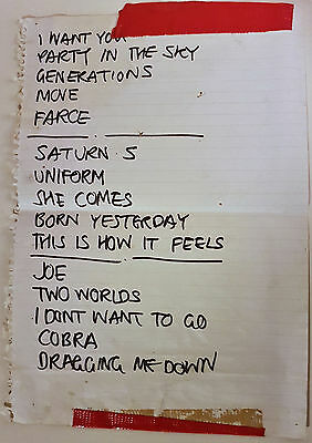Inspiral Carpets - Set List From Headline set of Sunday - Phoenix Festival 1994