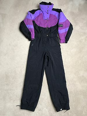 Woman's Retro All In One Ski suit Size 12 Vintage