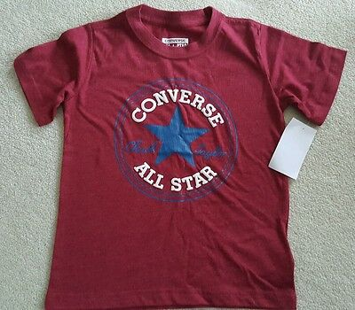 Converse Kids Chuck Patch T-Shirt - dark red 3 years old