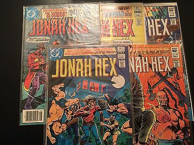 Jonah Hex Lot of 5 comics #'s 58 thru 62 Very Nice !!!!
