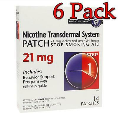 Nicotine Transdermal System Patch, Step 1, 21mg, 14ct, 6 Pack 848985001526A2489