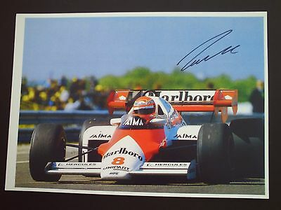 Niki Lauda F1 Genuine Signed A4 Photograph