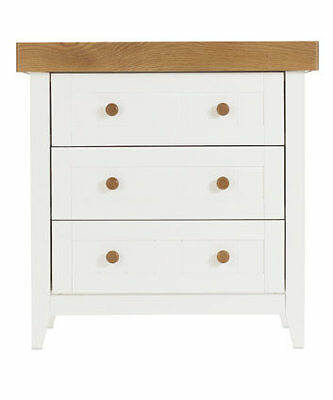 Mothercare summer oak / white drawers with changing unit