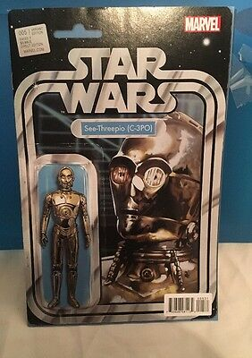 STAR WARS # 5  Marvel Comic July 2015  NM  C-3PO ACTION FIGURE VARIANT COVER