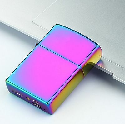 USB Electronic Dual Arc Metal Rechargeable Flameless Torch Windproof Lighter