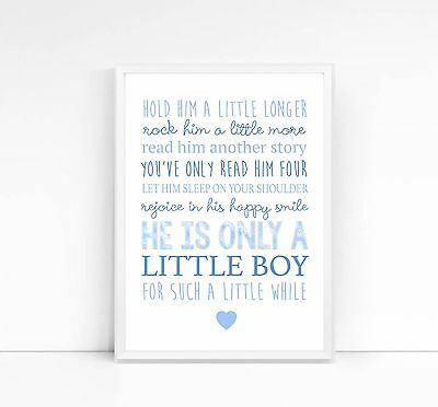 Hold him/her a little longer-A4 print-nursery print-children's print-quote-baby