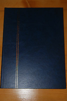 Weeda New 8-page double-sided stockbook, Blue cover, white pages, 16 pages total