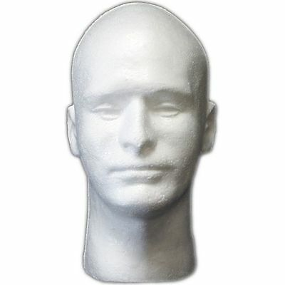 MN-409 1 PC Male Styrofoam Foam Mannequin Head