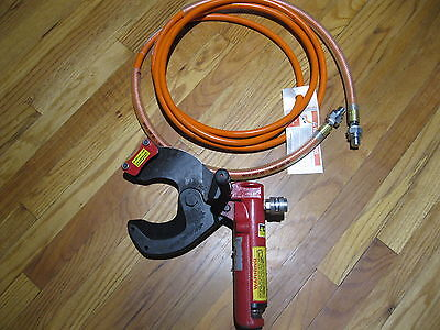 hk porter hydraulic cable cutter/ jaws type 8910 with hydraulic hose