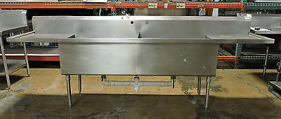 Used Stainless Steel 2 Compartment Sink with Twist Drain