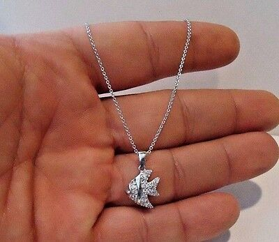 356687779cad9 925 STERLING SILVER Mother & Daughter Necklace Pendant W/ .25 Ct Lab ...