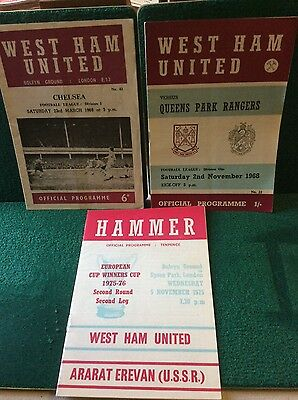 West Ham United Programmes 1968 - 1975