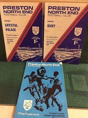 Preston North End Programmes 1969