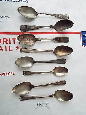 Vintage silver plate spoons mixed lot