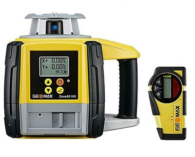GeoMax Zone60HG Semi-Automatic Dual Grade Laser With ZRB35 Basic Receiver 601065