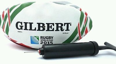 NEW Limited edition Coca-Cola GILBERT Rugby World Cup 2015 Ball with pump Size 4