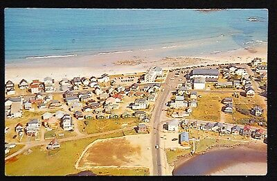 1950 - 1970 Vintage Postcard Wells Beach, Maine - The Mile Road At The Shore