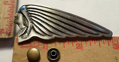 Vintage large Indian motorcycle rivet emblem USA cycle collectible old badge