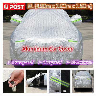 2L Premium Double thick waterproof car cover rain resistant UV dust protection