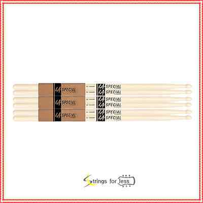 LA Specials by Promark 5A Hickory Drumsticks, 3-pack - Drum Sticks 3 Pairs