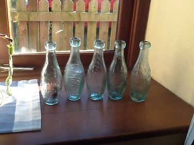 5 Old Bottles (mineral Water)