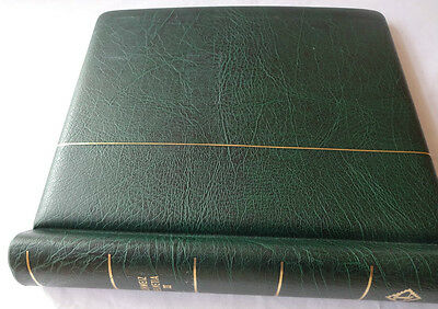 Lighthouse Switzerland Green Luxury Padded Stamp Album, Very Good Condition