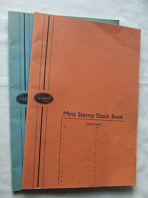 Pair Of Errimar Stamp Stockbooks For Sheets & Larger Items