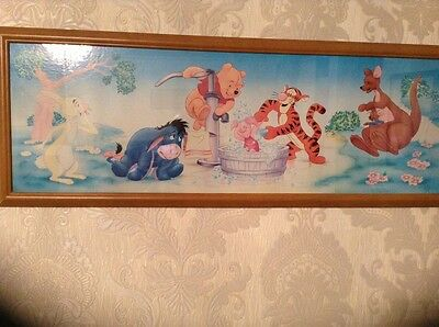 Disney Picture In Wooden Frame
