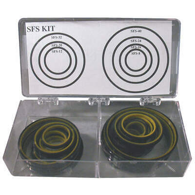 GRAINGER APPROVED O-Ring Asst,SFS,Urethane,35 Pc,7Sz, 5JJT6, Black and Yellow